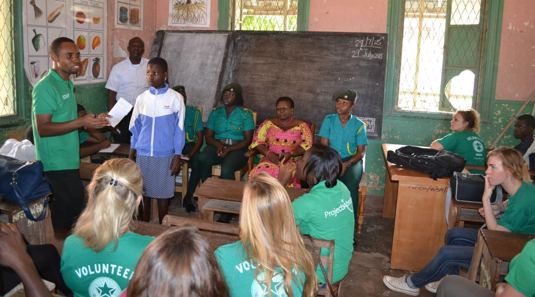 Projects Abroad high school volunteers learn about local traditions and political system in Ghana during their human rights internship for teenagers.